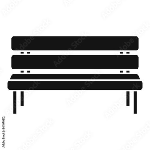 Canvas Print Park bench icon