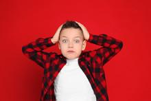 Portrait Of Emotional Little B...