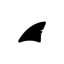 Shark Fin Symbol Vector Illust...