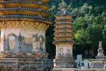 Yinshan Pagoda Forest. Complex...