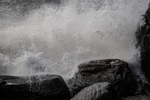 Rough Sea Hitting A Rock, Devo...