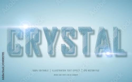 crystal text 3d effect - editable text effect Fototapet