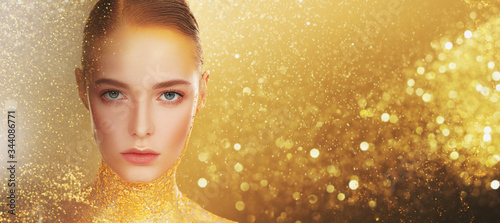 Foto golden jewelry concept