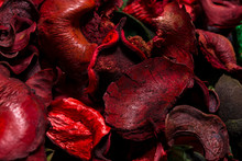 Red Potpourri Flowers And Leav...