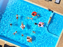 Aerial Of Friends Having Party...