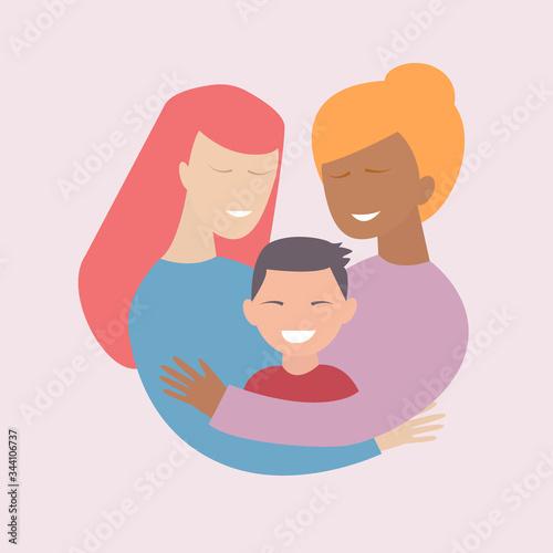Adoptive family Canvas Print
