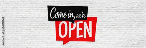 Obraz Come in, we're open - fototapety do salonu