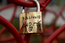 Love Padlocks At Praca Do Muni...