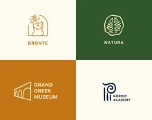 Premade Logo Set Of Art. Gallery Vector Collection.
