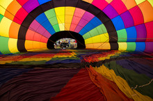 Full Frame Shot Of Colorful Hot Air Balloon