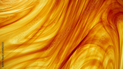 Canvas Print Amber Glass Swirl