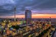 Leinwandbild Motiv High Angle View Of Buildings In City