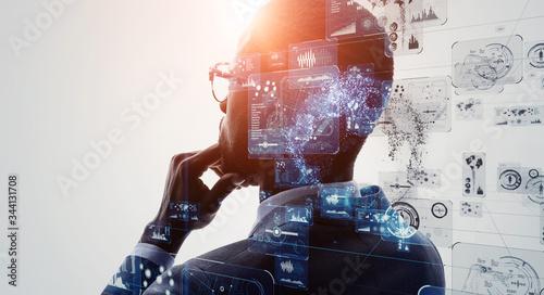AI・人工知能 Wallpaper Mural