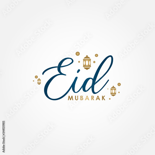 Photo Eid Mubarak Vector Design Illustration For Celebrate Moment