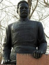 Almaty, Kazakhstan - April 15, 2020. Park Of Abandoned Monuments. Heroes Of The Revolution. Frunze.