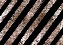 Blush Gold Pattern. Abstract Golden Quartz Background. Vector Illustration. Copper Foil Diagonal Line Bronze Glitter Stripes Geometric Pattern. Stylish Texture Abstract Minimal Backdrop Patina Effect.