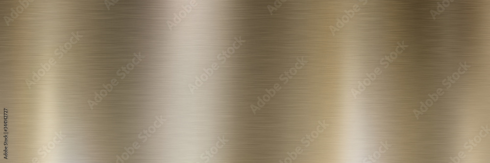 Fototapeta Bronze brushed metal surface