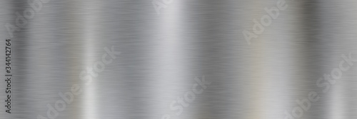Silver brushed metal surface Fototapeta