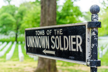 Directional Sign Showing Tomb Of Unknown Soldier