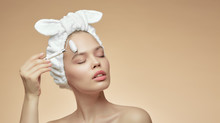 Girl In Bandage On Head Uses B...