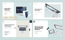 Set Of Flat Design Web Page Te...