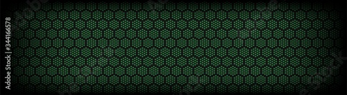 Obraz dark green perforated material seamless pattern background - fototapety do salonu