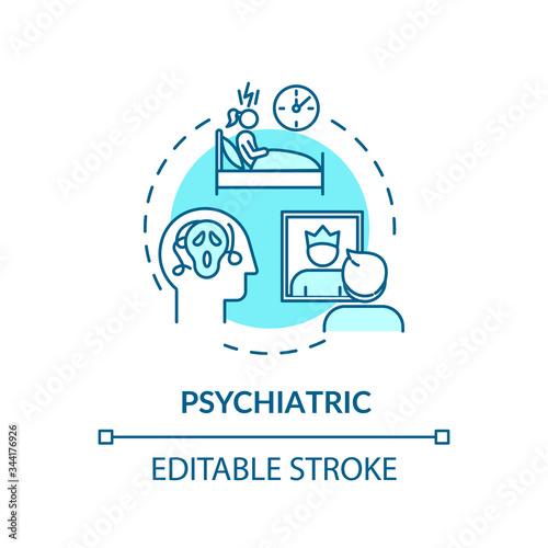 Valokuvatapetti Psychiatric concept icon