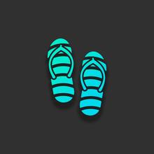 Beach Striped Slippers. Flip F...