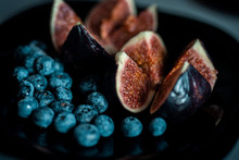 Figs And Blueberries