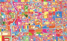 Miramar, Florida, USA, Colorful Vector Map