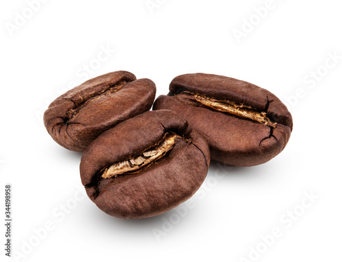 Photo Arabica coffee beans isolated on white background