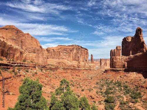 Billede på lærred Idyllic Shot Of Rock Formation In Arches National Park Against Sky