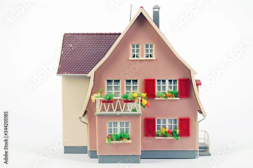 Dollhouse On White Background Canvas Print