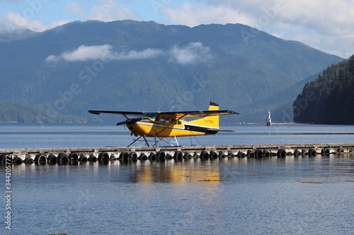 A Beautiful Alaskan Sea Plane at its Dock Canvas Print