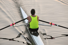A Rower, Single Sculler Is Pad...