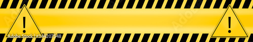 Fotografie, Obraz exclamation mark in triangle frame attention caution danger sign and warning lin