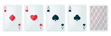 Set Of Four Aces Playing Cards...
