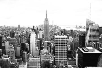 Panel Szklany Czarno-Biały New York Rockefeller center