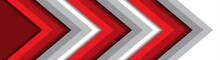 Abstract Red And Grey Arrow Direction Background