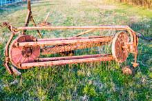 Abandoned Combine Harvester On...