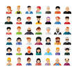Set of people avatar flat design icons. Collection of avatars related to various types of people face.