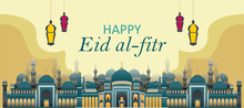 Eid Al-fitr Banners With One T...