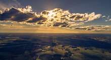 Sunset Behind Clouds From Sky ...