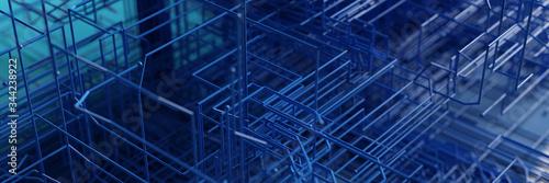 Fotografía Netzwerk Hintergrund als Internet Technologie Konzept