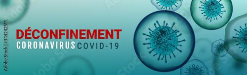 Fototapety, obrazy: De-containment, coronavirus banner concept