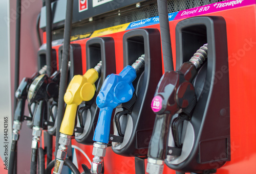 Photo Diesel and benzene filling stations for cars and motorcycles in the Caltex filling station on 09/03/2020