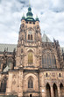 The majestic building of a medieval Gothic temple