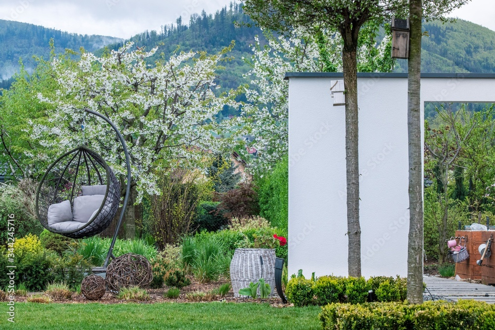 Fototapeta ogród nowoczesny, gardens modern