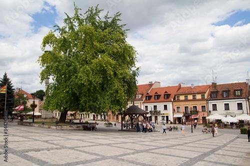 Fototapeta Rynek Starego Miasta - Sandomierz, Polska obraz