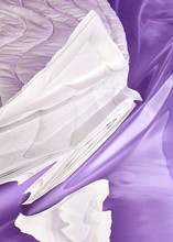 Abstract White And Purple Fabr...
